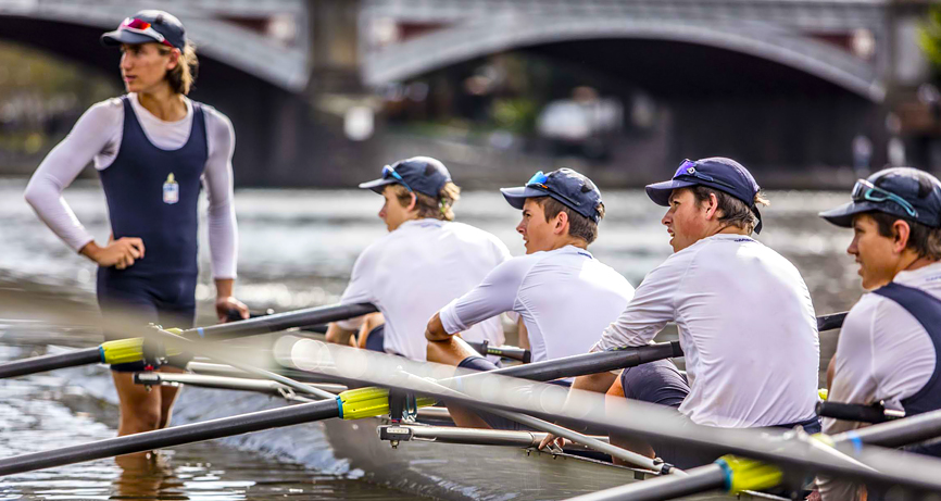 Senior School boys rowing