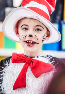 Melbourne Grammar School student dressed up as the Cat in the Hat
